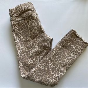 Childrens Place Animal Print Distressed Jeans 6X/7